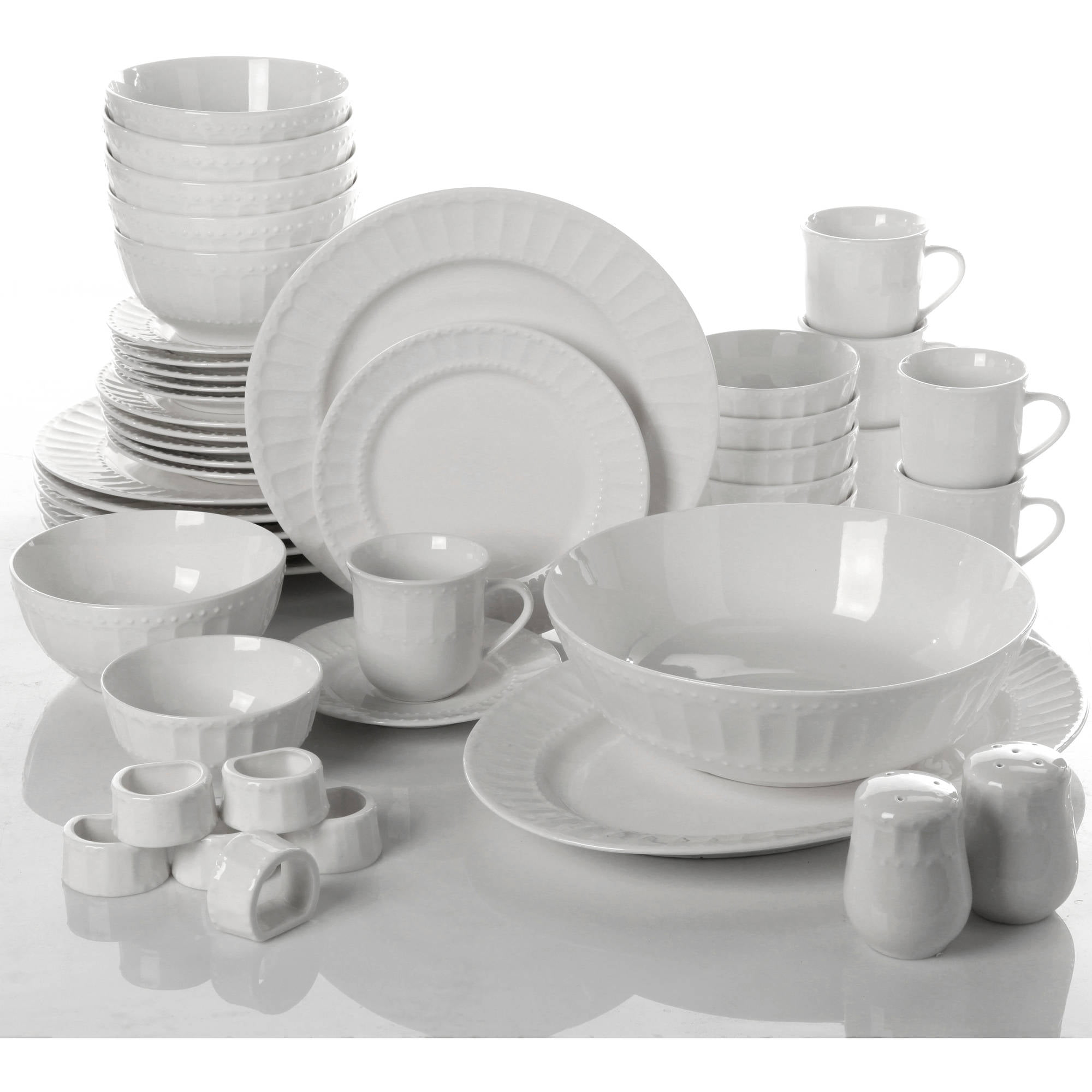 Etonnant Gibson Home Regalia 46 Piece Dinnerware And Serveware Set, Service For 6    Walmart.com