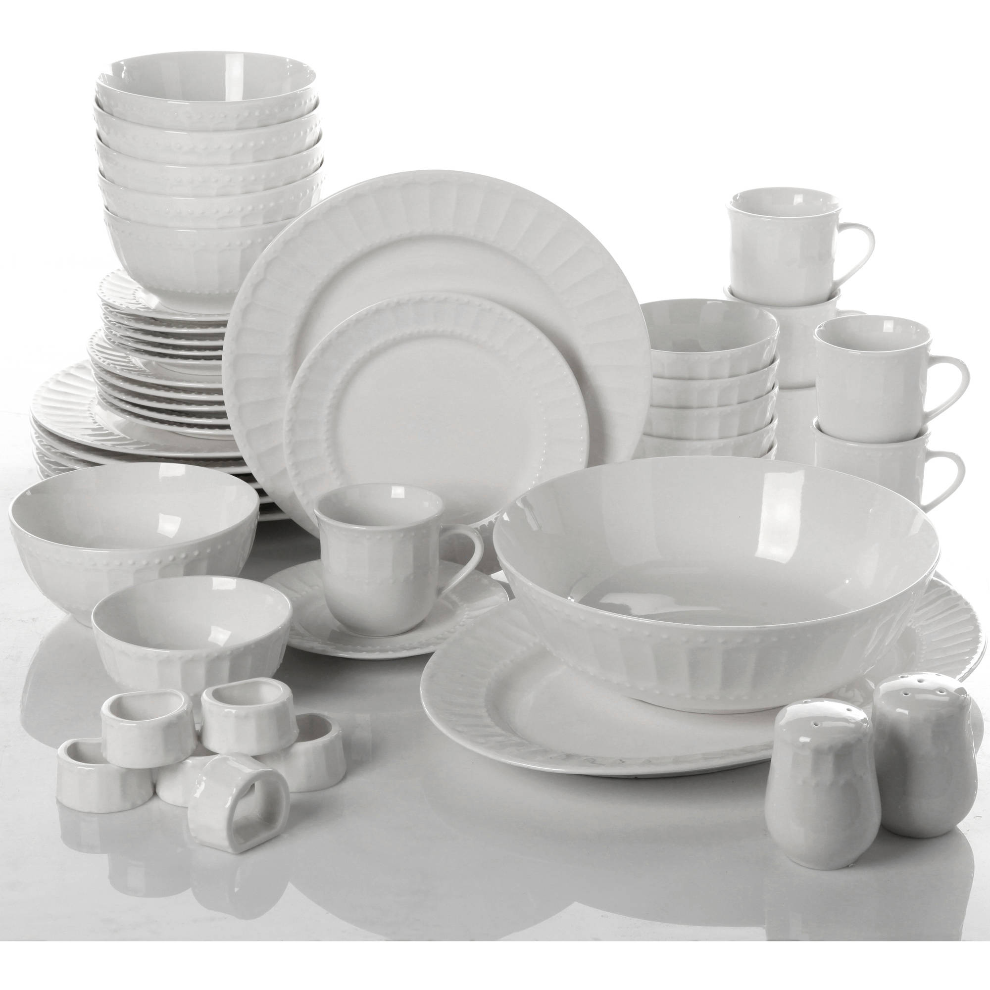 Gibson Home Regalia 46-Piece Dinnerware and Serveware Set Service for 6 - Walmart.com  sc 1 st  Walmart : gibson china dinnerware - Pezcame.Com