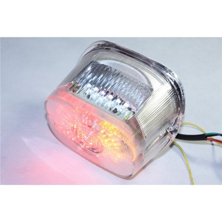 Tail Light King (HTT Motorcycle Clear Lens Led Tail Light Brake Light Turn Signal For 1996-2008 Harley Davidson Softail/1999-2007 Road King Sportster Dyna Glide Electra Glide Night Train Fat Boy Low)