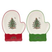 Spode CHRISTMAS TREE S/2 Mitten Dishes