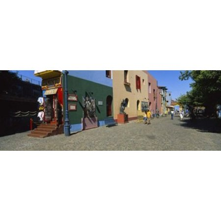 Multi-Colored Buildings In A City La Boca Buenos Aires Argentina Canvas Art - Panoramic Images (18 x - Party City Boca