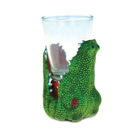 Alligator Alligator Cool Animal Head Shot Glass - Animal Theme - Unique Gift and Souvenir - Item #9082, Enjoy the party! By Puzzled ()