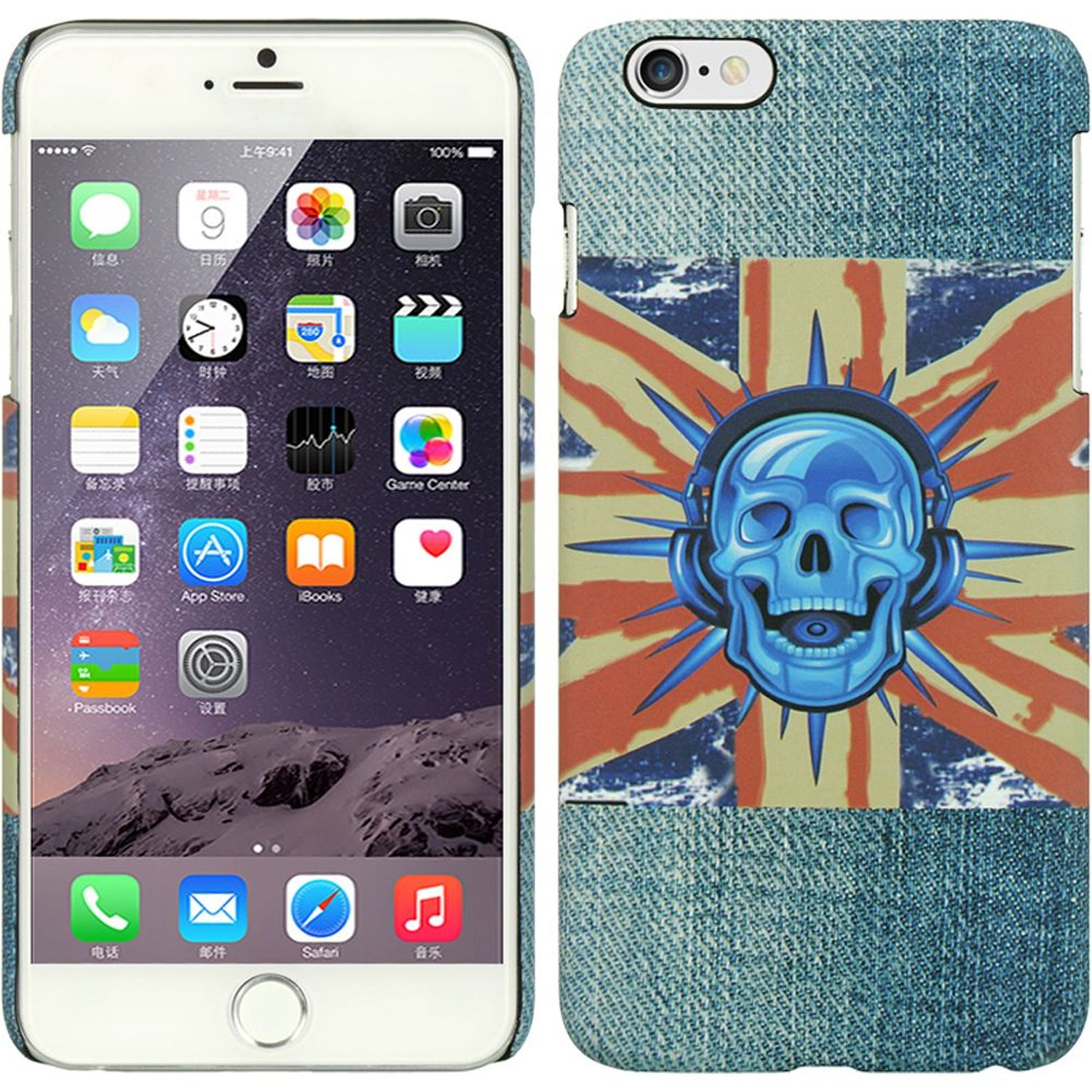 Apple iPhone 6 Plus/6s Plus Case, by DreamWireless Jeans Rubberized Hard Snap-in Case Cover For Apple iPhone 6 Plus/6s Plus, Blue