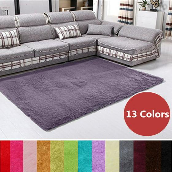 80x120cm 13 Colors Modern Soft Fluffy Floor Rug Anti Skid Shag