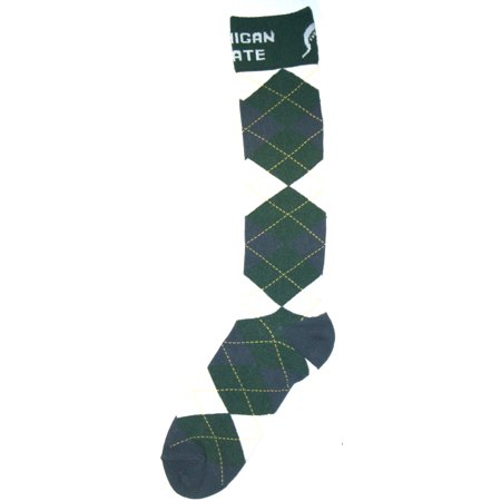 Michigan State Spartans Argyle Dress Sock