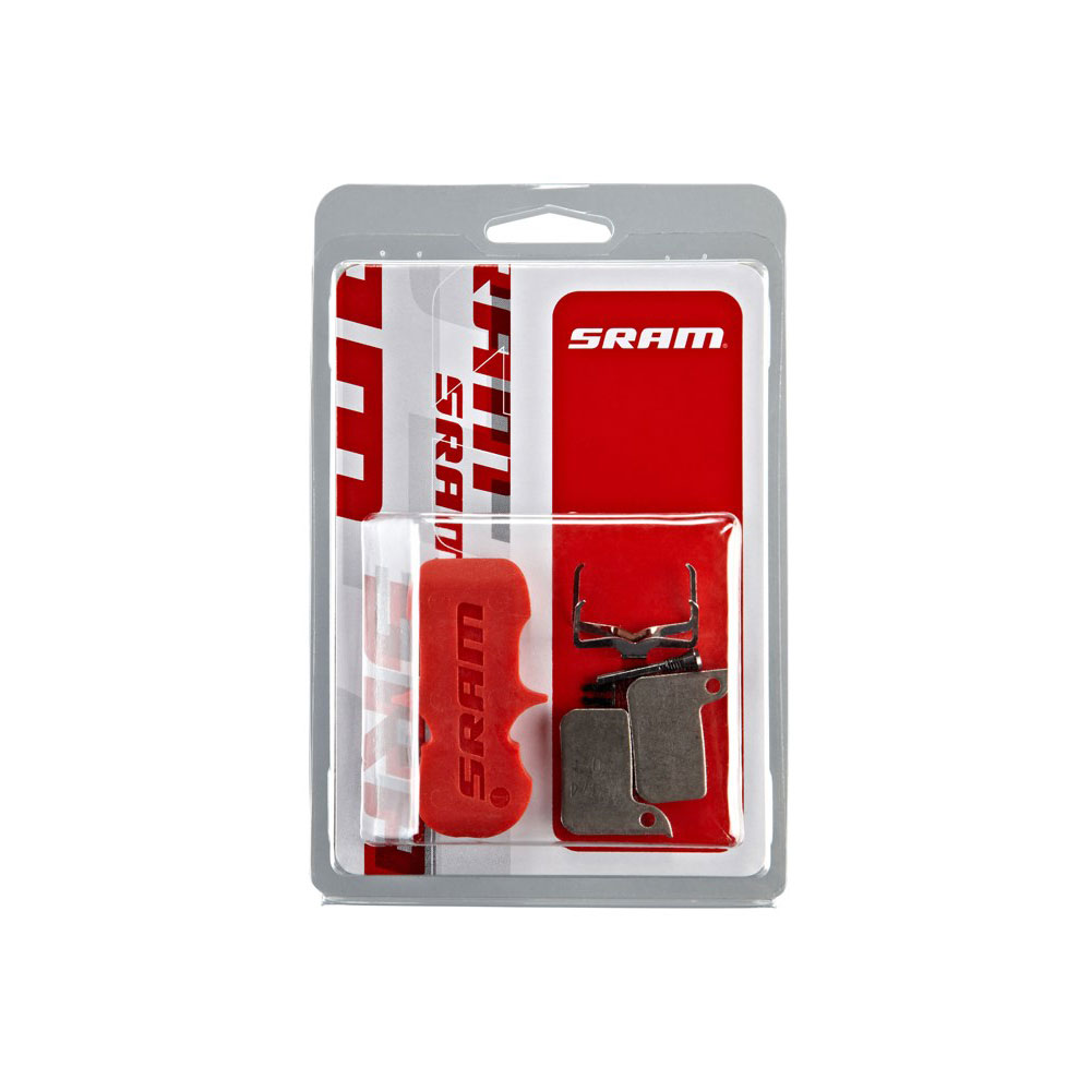 BRAKE PAD DISC ROAD HRD ORG/AL SRAM