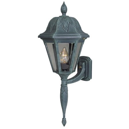 Floral Large Bottom Mount Light Fixture with Short Tail, Verde Green