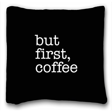 Coffee Throw Pillow (WinHome But First Coffee Black Typography Throw Pillow Black And White Pillow Coffee Cushion But First Coffee Cushion But First Coffee Throw Pillow Sofa Size 18x18 Inches Two Side)