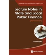 Lecture Notes in State and Local Public Finance - eBook