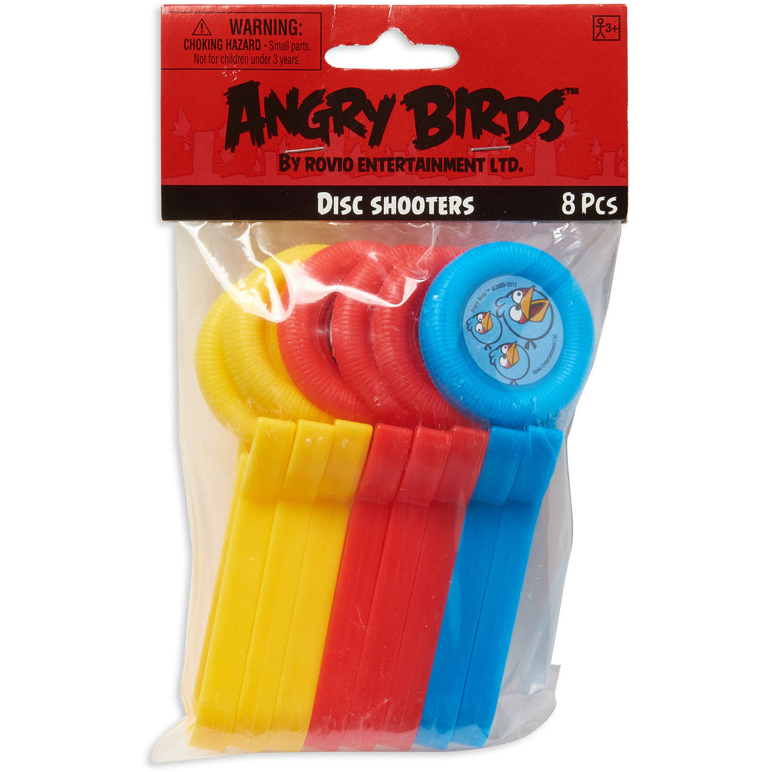Angry Birds Disc Shooters, 8 Count, Party Supplies