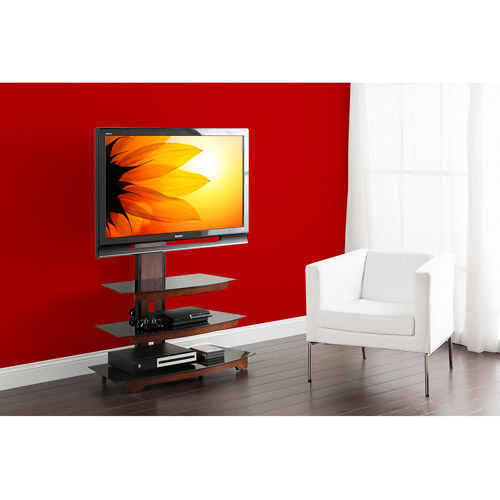 """Whalen 3-Tier Cherry Brown Flat Panel TV Stand for TVs up to 50"""""""