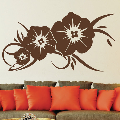 Style and Apply Flower Greeting Wall Decal