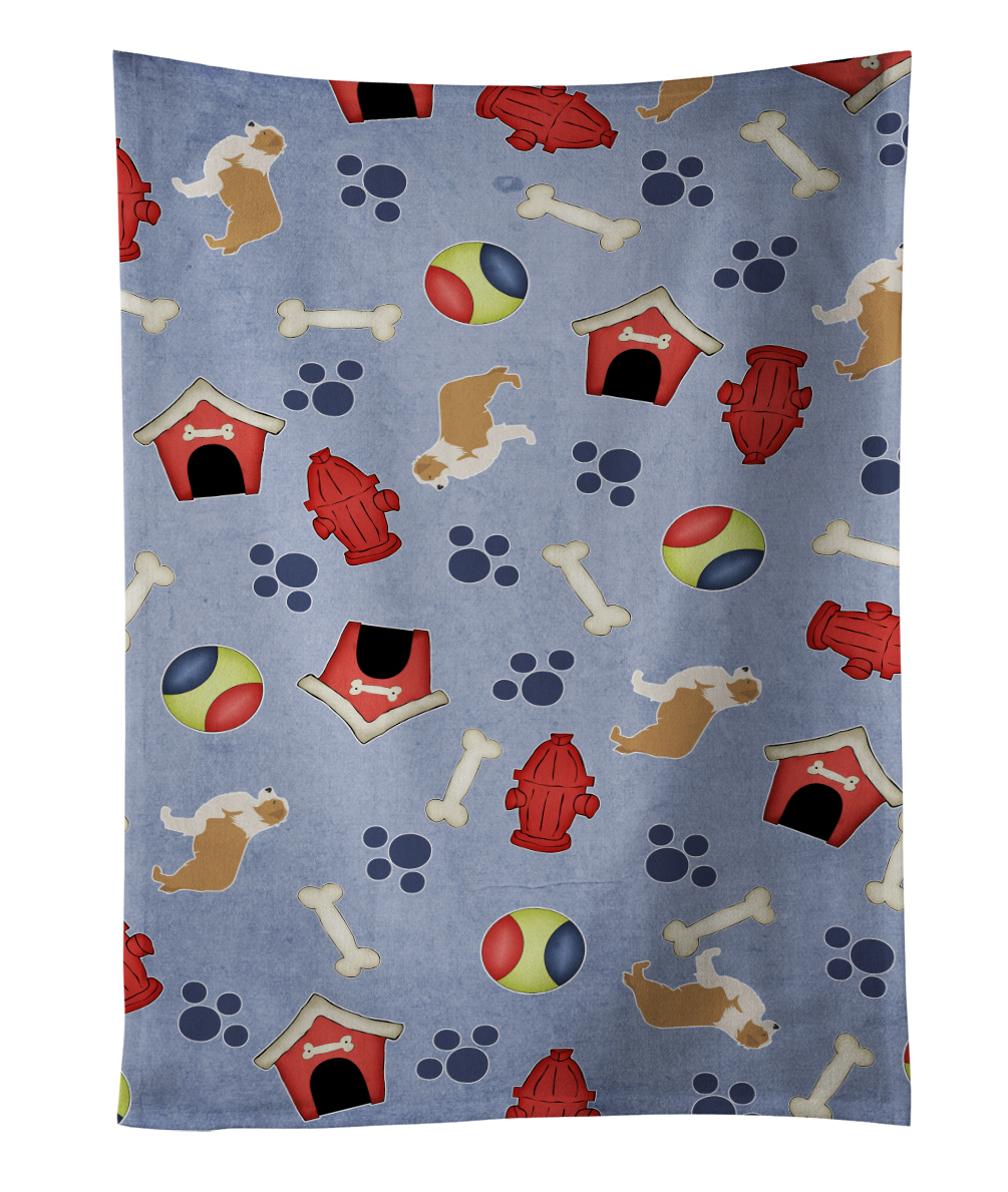 Red Border Collie Dog House Collection Kitchen Towel BB3922KTWL by Caroline's Treasures