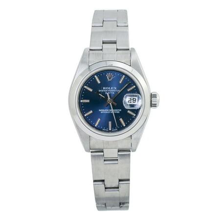 Pre-Owned Rolex Date 79160 Silver Women Watch (Certified Authentic & Warranty)