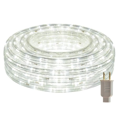 HEI LIANG LED Rope Lights, 120V Waterproof LED String Lights for Patio, Backyard, Garden, Wedding, Christmas Party, Indoor and Outdoor Decoration (50FT/15M, White)](Backyard Party Lights)