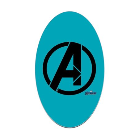 CafePress - Avengers Symbol - Sticker - Avengers Symbols