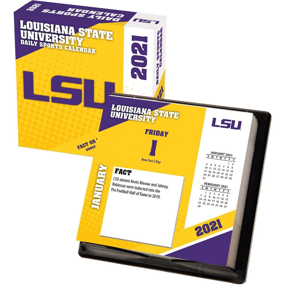Lsu 2021 Calendar LSU Tigers 2021 Box Calendar   Walmart.  Walmart.com