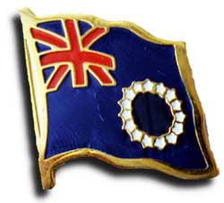 Cook Islands Flag Lapel Pin