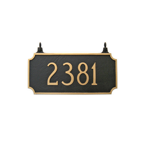 Montague Metal Products Inc. Princeton Two Sided Hanging Address Plaque