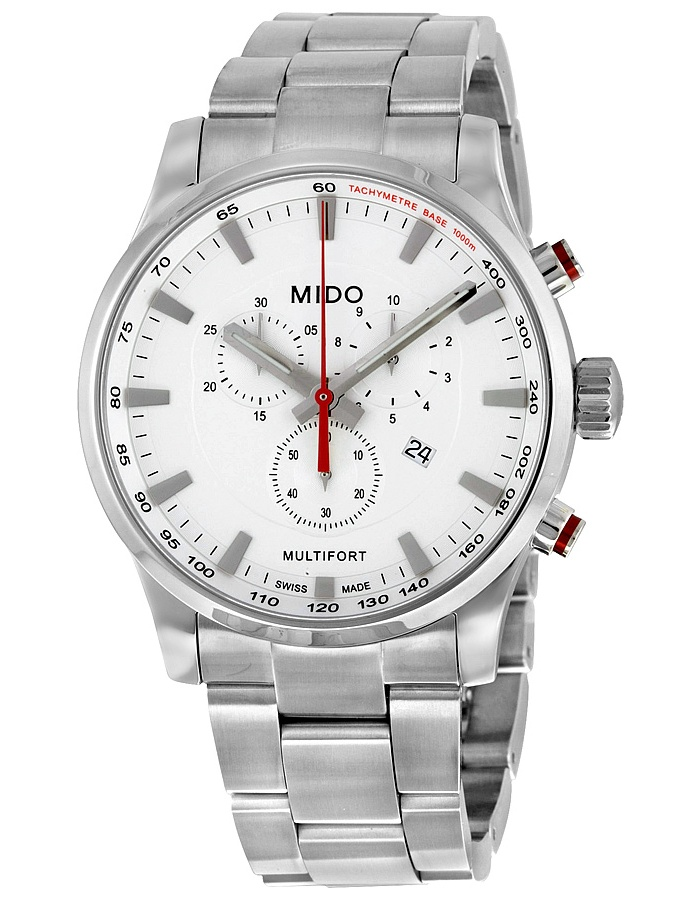 Multifort Chronograph Silver Dial Stainless Steel Mens Watch M0054171103100