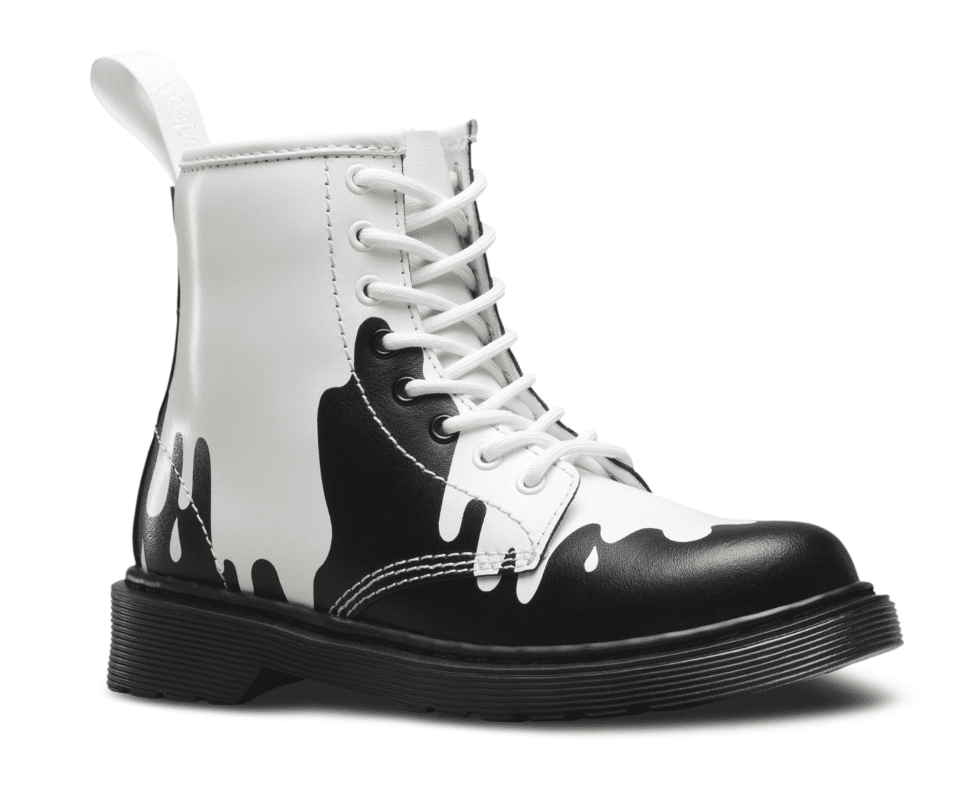Dr. Martens Kid's Delaney Lace Casual Boots White Leather 3 Little Kid M UK 4 M by Dr. MARTENS