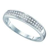 Gold and Diamonds RA3645-W 0.10CT-DIA MICRO-PAVE BAND- Size 7