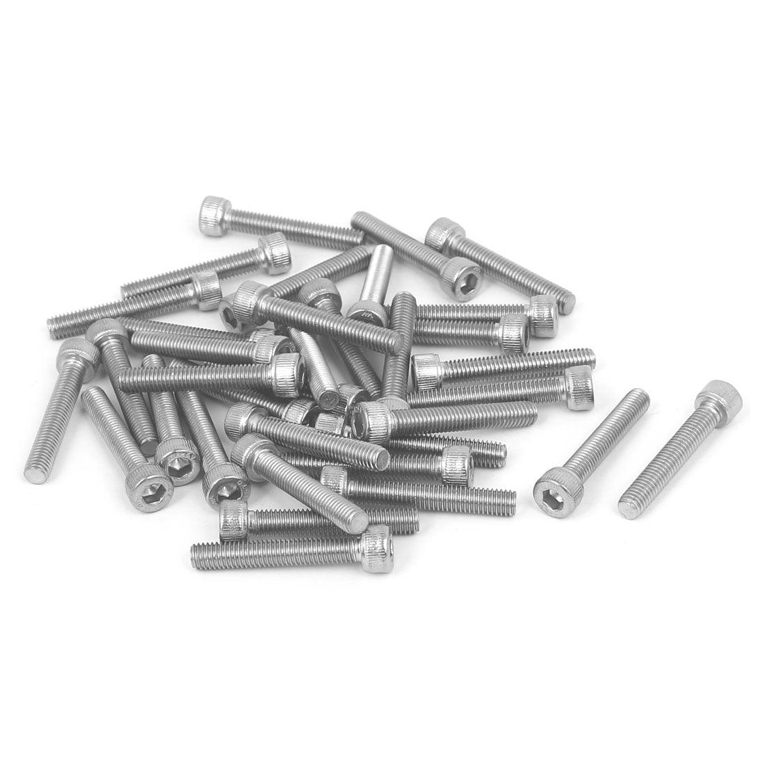 M5x30mm Thread 304 Stainless Steel Hex Socket Head Cap Screw Bolt DIN912 35pcs - image 4 of 4