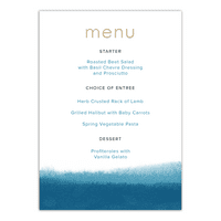 Personalized Wedding Menu Card - We Do - 5 x 7 Flat