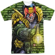 Judge Dredd 2000 AD Police Comic Book Movie Matrix Adult Front Print T-Shirt