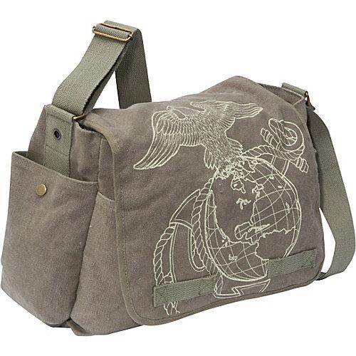 Rothco Vintage Classic Messenger Bag - U.S. Marine Corps