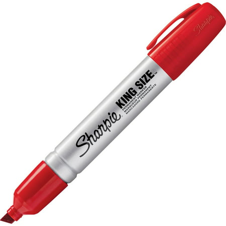 Sharpie Chisel Tip King Size Permanent Marker - Red (12 Per Set)