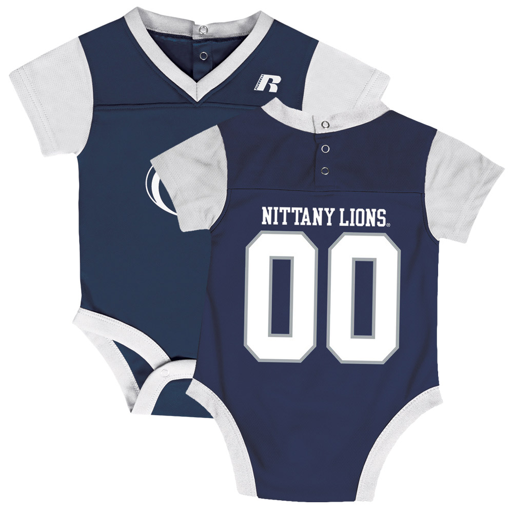 Newborn & Infant Russell Navy Penn State Nittany Lions Fashion Jersey Bodysuit