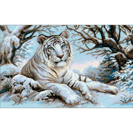 Tiger Cross Stitch Pattern - RIOLIS Counted Cross Stitch Kit 23.5
