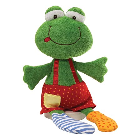 "Sock Hop Frog Ribbitz 14"" Plush, The world"