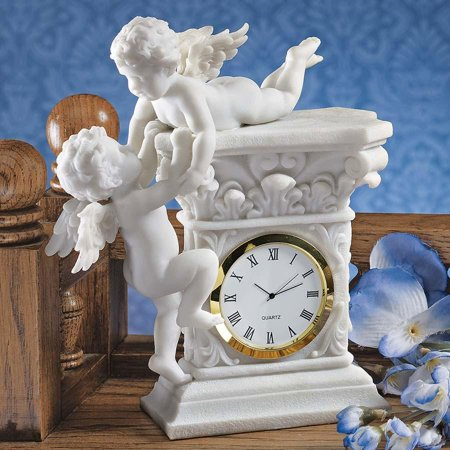 Baby Clock - French Baroque Style Decorative Baby Cherubs Sculpture Table Clock [Kitchen]