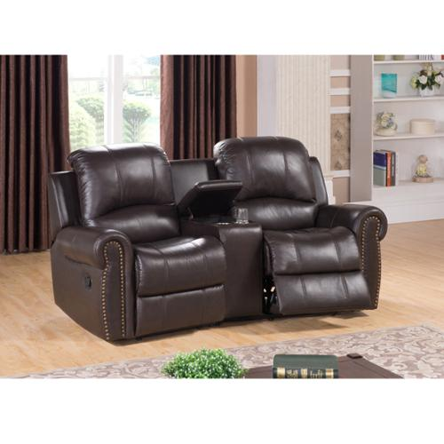 Sofaweb.com Walden Two Seat Brown Top Grain Leather Recliner Home Theater Seating Set  sc 1 st  Walmart & Home Theater Recliner islam-shia.org