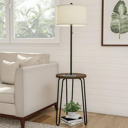 Floor Lamp End Table- Mid Century Modern Style Side Table ...