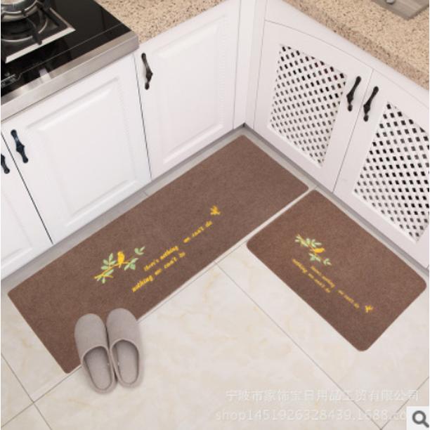 2pcs Bird Leaf Rug Modern Minimalist Water Oil Absorption And Anti Skid Door Mats Kitchen Carpets Set 16x24 Inch 16x47 Inch Walmart Com Walmart Com