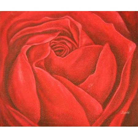 Red Rose Canvas Wall Art - B - H 20 x W 24(Stretched) - image 1 de 1