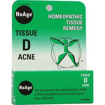 Hylands Homeopathic Tissue Remedy Nuage Tissue D Acne Tablets - 125 Ea, 2 Pack ()