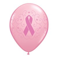 "Burton & Burton 11"" Pink Ribbon Breast Balloons, 50 Pack"