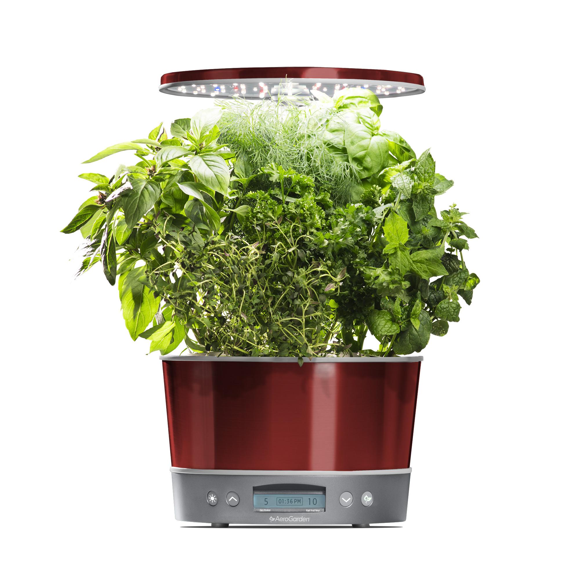 AeroGarden Harvest Elite 360, Stainless with Gourmet Herbs Seed Kit