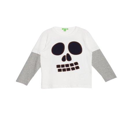 934805f70 Bossini Kids Boys Skeleton Print Long Sleeve Halloween T Shirt US Size 3T -  16 - Walmart.com