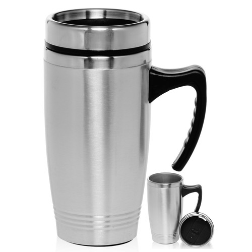 Natico 16 Oz. Stainless Steel Travel Mugs