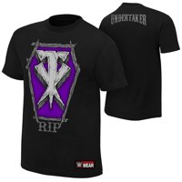 """Official WWE Authentic The Undertaker """"RIP""""  T-Shirt Black/Purple Small"""