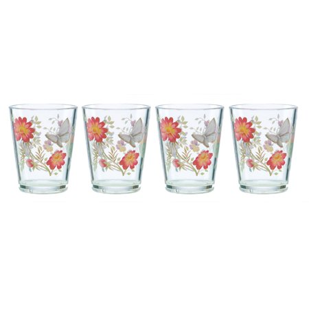 Lenox 866237 Butterfly Meadow Acrylic DOF Glass (Set of 4), Multicolor