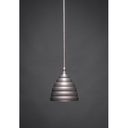 Toltec Lighting-23-BN-425-One Light Stem Mini-Pendant  Brushed Nickel
