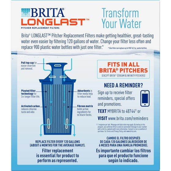 Brita Longlast Water Filter Longlast Replacement Filters For