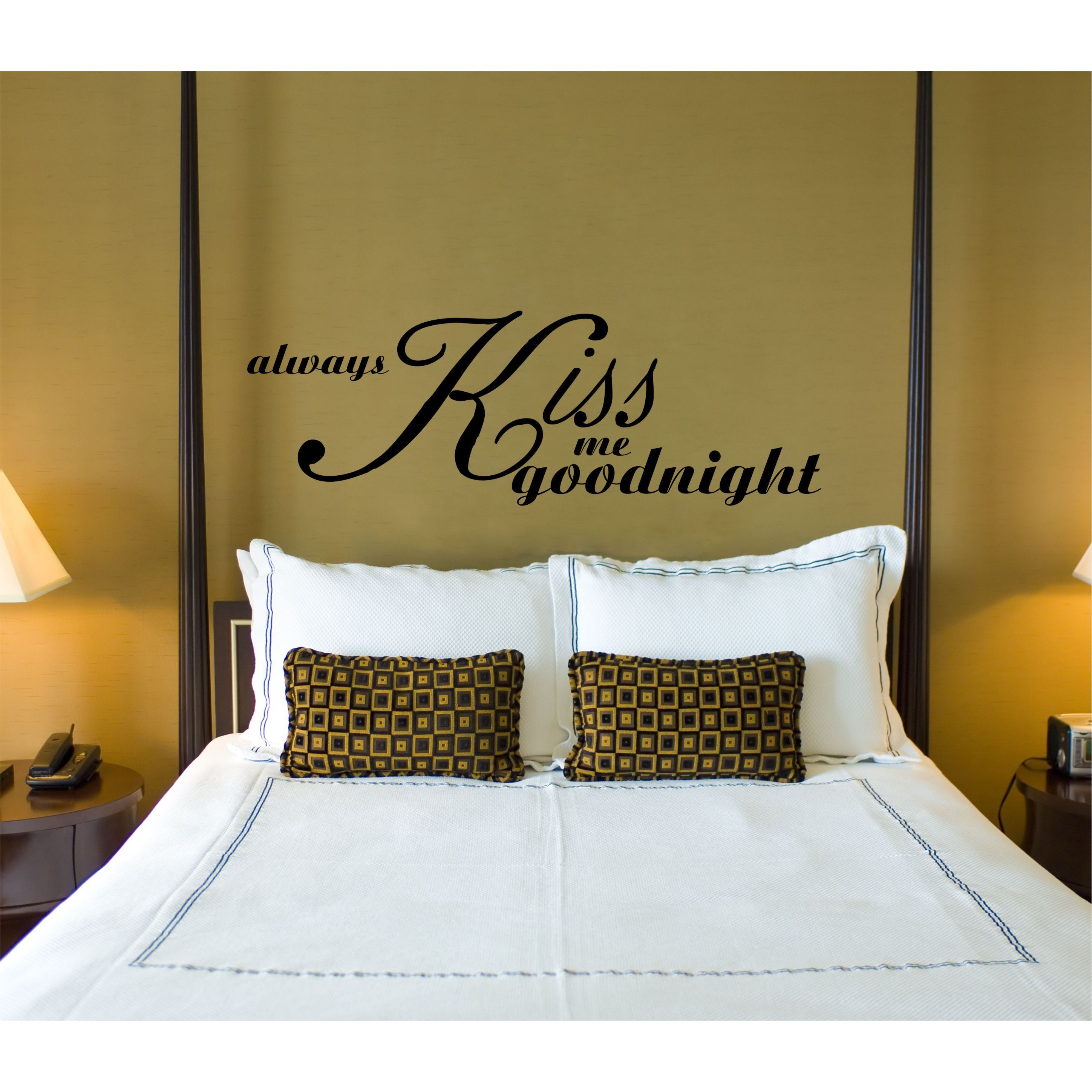 Everything Vinyl Decor Always Kiss Me Goodnight Vinyl Wall Art Sticker