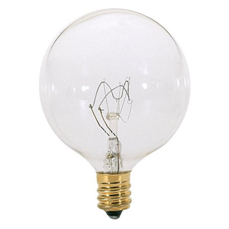 Blue Satco Incandescent Light Bulb - 2Pk - Satco S3727 25W 120V Globe G16.5 Clear E12 Incandescent Light Bulb